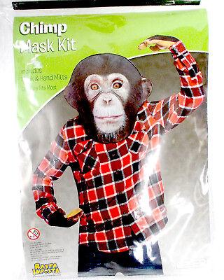 Rasta Imposta Chimp Mask kit Costume Adult OSFM - Chimp Costumes