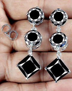 15-30-ct-AAA-Black-Round-Princess-Cut-Stud-Earrings-925-Sterling-Silver