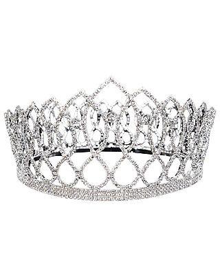 Morris Costumes Gorgeous Rhinestone Detailing Metal King Crown 4 Inch. Gb54