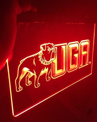 Georgia Bulldogs Neon Sign (GEORGIA BULLDOGS, UGA LED Neon Sign for Game Room,Office,Bar,Man Cave,)