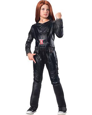 Morris Costumes Girls Marvel Superhero Deluxe Jumpsuit Black Small. RU620044SM - Marvel Girls Costumes