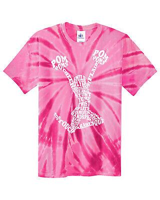 Cheerleader Youth T-shirt (Cheerleader Cheer Typography Youth Tie Dye T-Shirt Girl)