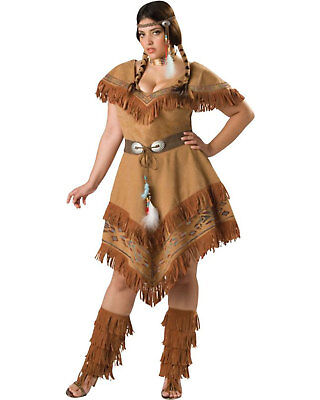 Morris Costumes Adult Women's Western Indian Style Dress 2XL. IC5036XXL - Western Style Costumes