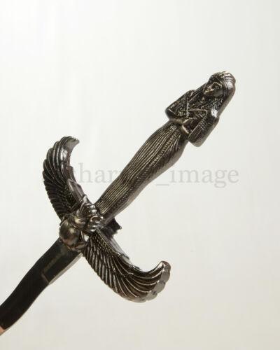 "Egyptian Athame Dagger & Scabbard 13.75"" Ritual Dagger Kris Stainless Steel NEW"