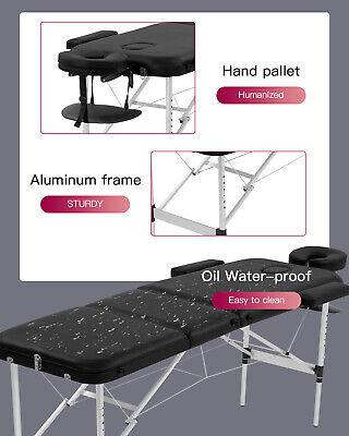 Aluminium Massage Table Portable Massage Bed 73 Inch Long Height Adjustable 3 Health & Beauty