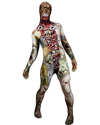 Morris Costumes Adult Unisex Facelift Morphsuit Halloween Costume L. MH05520