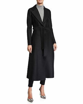 Harris Wharf London Women's XXS IT 36 Long Pressed Wool Duster Coat Black Defect