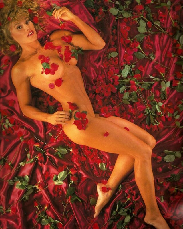 Cory Everson Between Flowers  8x10 Photo Print