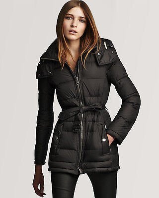 NWT Burberry Brit 'Mareton' Quilted Down Jacket #121 BLACK SIZE XL