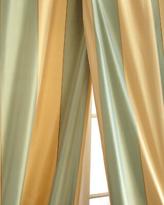100% silk taffeta stripe drapes by Neiman Marcus