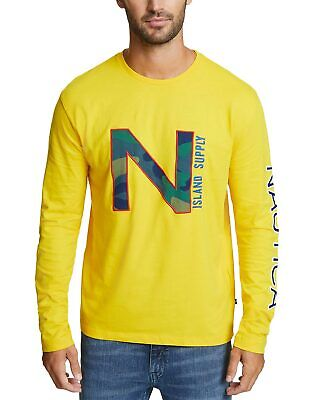 Nautica Mens Fashion Logo T-Shirt Large Empire Gold