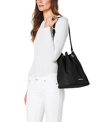 UPC 888235575315 product image for $298 Michael Michael Kors Large Jules Drawstring Shoulder Bag Black Leather | upcitemdb.com