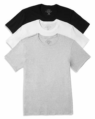 Calvin Klein Cotton Classics Crew Neck Tees in Black, White & Combo - 3 Pack 3 T-shirt Combo Pack