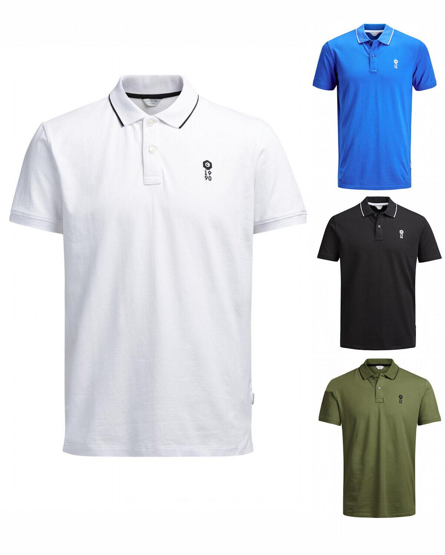 c50eb0ac1b9917 Jack   Jones Herren Polo-Shirt S M L XL XXL Polo Hemd weiß schwarz grün blau