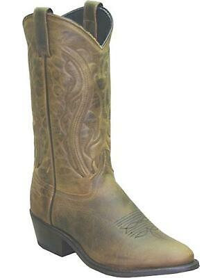 Sage by Abilene Oiled Cowhide Olive Western  Boot - Medium Toe - -