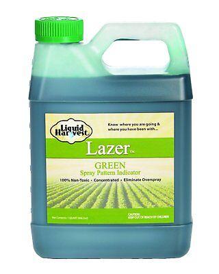 (Liquid Harvest Lazer Green Concentrated Spray Pattern Indicator - 1 Quart (32)