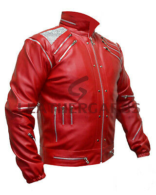 Leather Garbs MJ Beat it Michael Jackson Jacket for Unisex Hand Stitch (XS-5XL) - Jackson 5 Kostüm