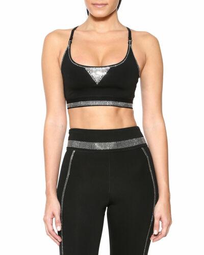 NWT Adam Selman Sport Carbon38 Core Crystal Sports Bra Crop Top XS
