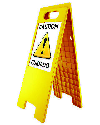 Headline Sign Yellow Double Sided Customizable Floor Tent Sign W Inserts 5693