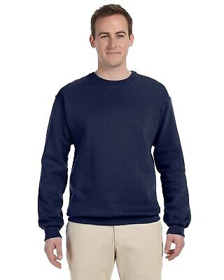 Fruit Of The Loom Adult 12 oz Supercotton Long Sleeve Crew T-Shirt 82300 S-3XL - Loom Adult Supercotton