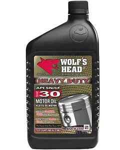 Wolfs Head Heavy Duty Sae 30 Motor Oil 2 Cases 24 Bottles 836 81036 56