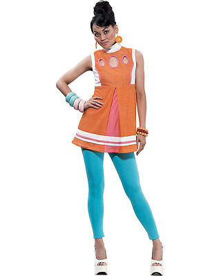 Morris Costumes Women's Retro 1960S Decorative A-Line Adult Dress S. PM808069 - Pink Halloween Line