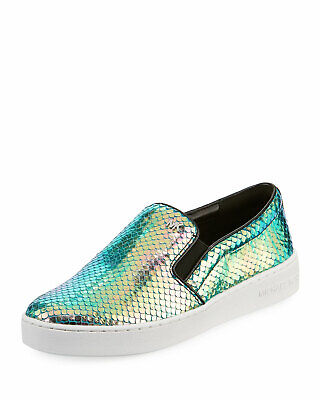 Michael Michael Kors Womens Keaton Low Top Slip On Fashion, Iridescent, Size 8.5