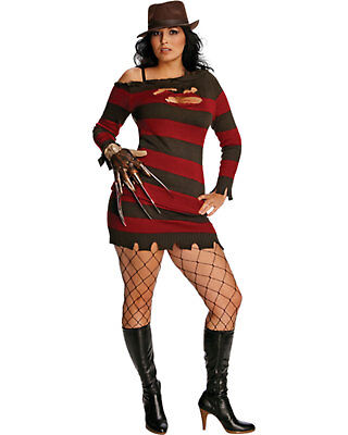 Morris Costumes Women's Tv & Movie Characters Freddy Krueger Dress - Freddy Krueger Costume Women