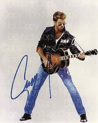 George Michael signed Wham! Wham 8X10 photo picture poster autograph RP