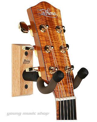 String Swing CC01K Hardwood Home & Studio Guitar Keeper Hanger OAK