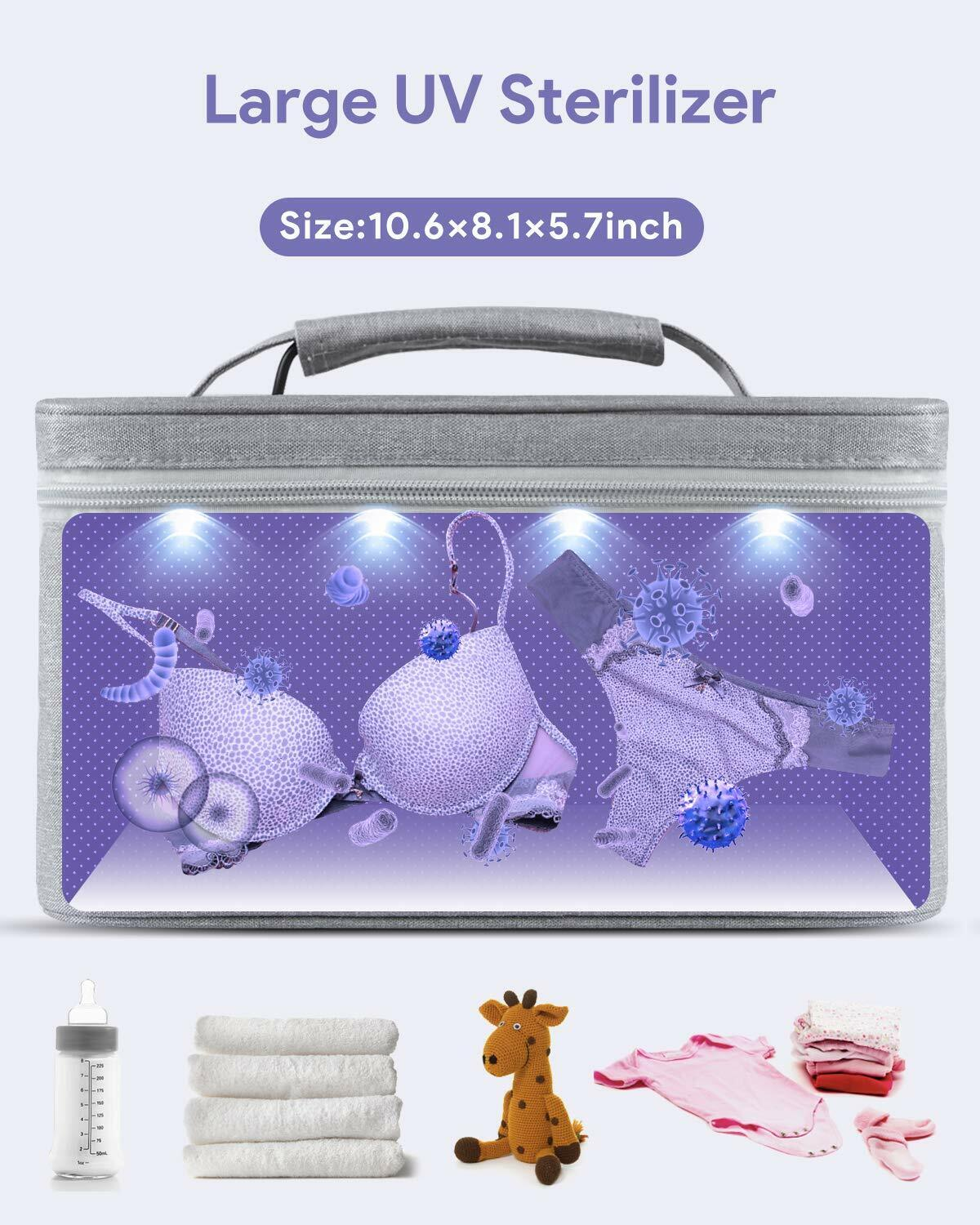 Large UV-Clean Portable Sanitizer LED Sterilizing Box Disinfection 99/% Cleaned