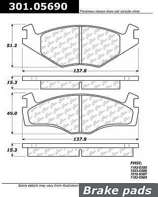 Cabriolet Brake Pad Set - Disc Brake Pad Set-Premium Ceramic Pads w/Shims & Hardware Front fits Cabriolet