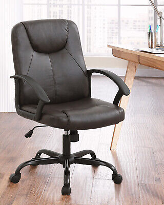 Home Office Chair Ergonomic Desk Chair Leather Computer Chair with Lumbar Business & Industrial