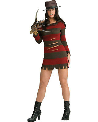 Morris Costumes Women's Tv & Movie Characters Freddy Krueger Dress S. - Freddy Krueger Costume Women
