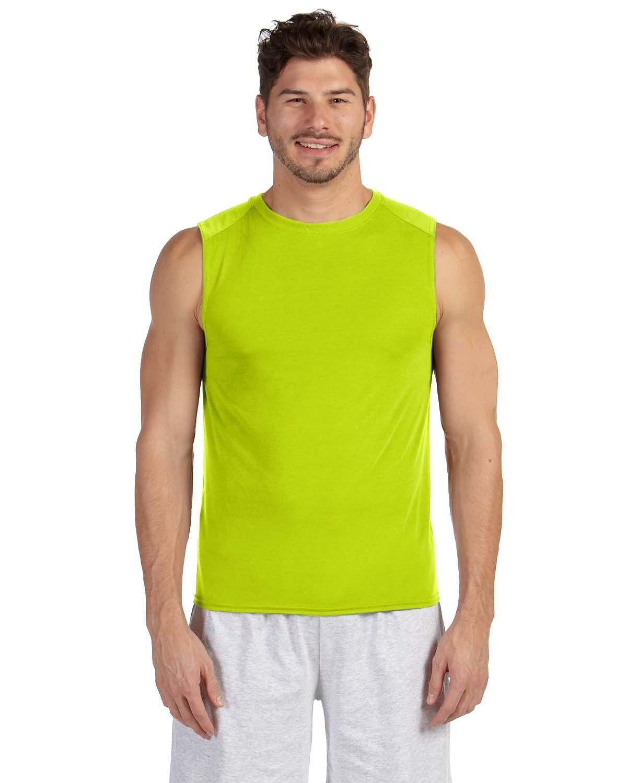 GILDAN Men/'s Performance dri-fit Sleeveless Muscle T-shirt Workout Sports S-3XL