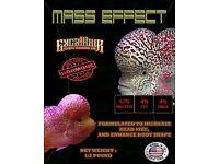Mass Effect Flowerhorn Food For kok Growth excalibur 1//2lb 3mm floating