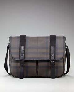 Burberry London Smoked Check Messenger Bag