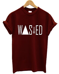 WASTED RUM DOPE YOUTH AND BAGGY INDIE SWAG COKE FUNNY T SHIRT MEN WOMEN GIRL TOP