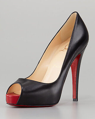 100% AUTHENTIC NEW WOMEN LOUBOUTIN VERY PRIVE RED TOE HEELS/PUMPS US 10