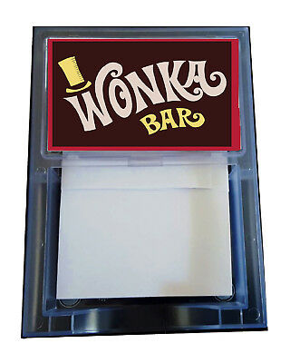 Willy Wonka Charlie And The Chocolate Factory Prop Candy Bar Note Pad (Willy Wonka And The Chocolate Factory Candy)