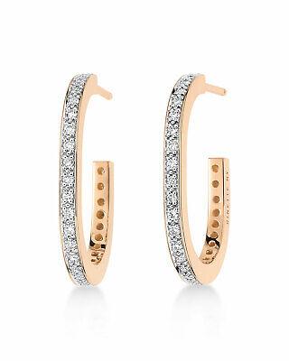 GINETTE NY 18K Rose Gold Diamond Hoop Earrings