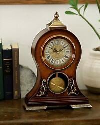 Le'raze Elegant, Decorative, Grandfather Clock Hand Painted Wood Modern Mantel