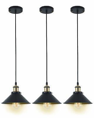 3 pc Island Kitchen Bar Pendant Ceiling Light Vintage Lamp Fixture