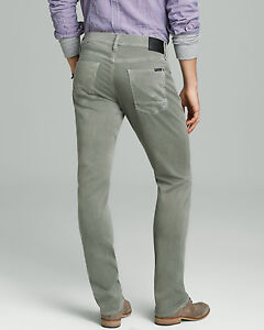 HUDSON-Designer-brand-Men-039-s-Jeans-Blake-Slim-Straight-Sundfaded-Olive-Pants