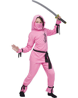 Morris Costumes Childrens Girls Ninja Complete Outfit Pink 12-14. FW8708PKLG](Ninja Girl Outfit)