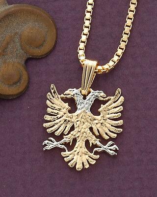Albanian Eagle Pendant, Hand Cut Albanian Eagle Coin, 1
