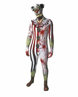 Morphsuit Zombie Clown Ganzkörperanzug Halloween Gr. M  - original (Ganzkörper Morphsuit)