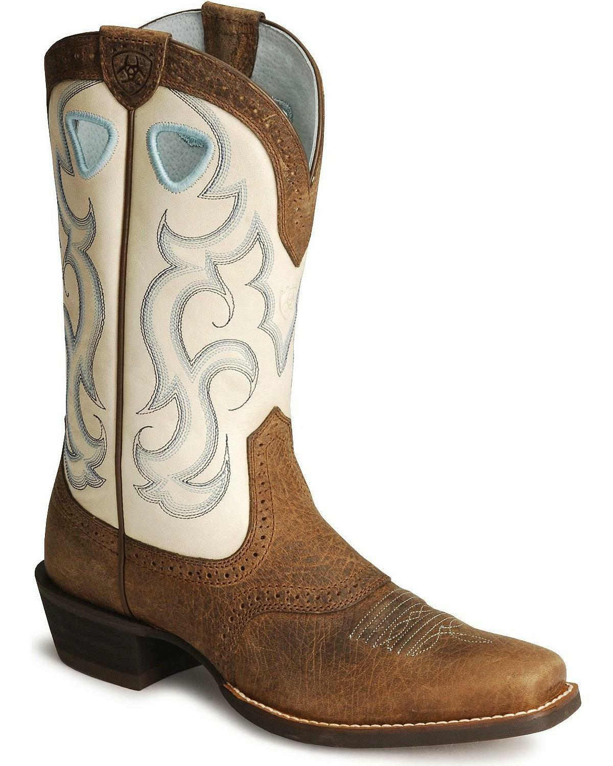 ariat s rawhide cowboy boot square toe 10006885 ebay