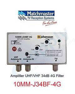 MATCHMASTER Amplifier UHF/VHF 34dB 4G Filter - 10MM-J34BF-4G Parramatta Parramatta Area Preview
