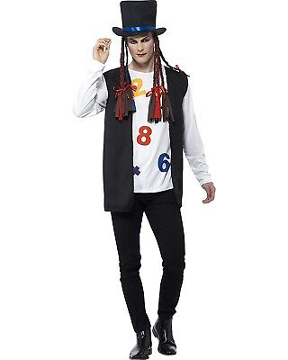Boy George Adult Costume Culture Club Pop Music Karma Chameleon 80's Singer - 80s Music Costumes